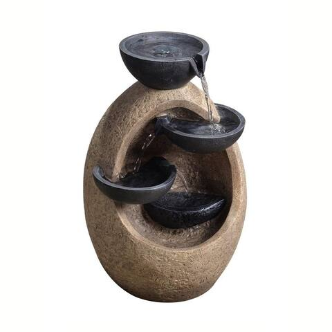 Peaktop - Outdoor-Tiered Bowls Fountain