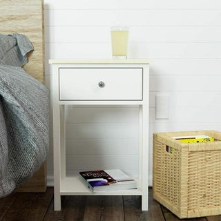 2 Tier Bedroom Furni Sofa Side End Table Nightstand w/ Drawer 2 Colors