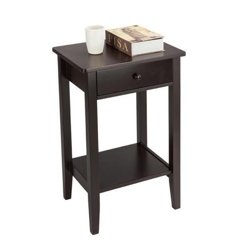 Porch & Den Clarkson 2-Tier Sofa Side End Table Nightstand w/ Drawer