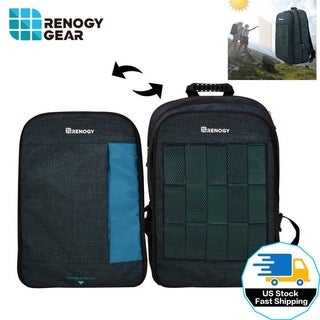 Laptop Backpack 5.6W Solar Powered 15.6 Bag Travel Rucksack USB Charging Port - 23'x15'x3'