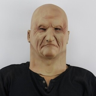 Halloween Creepy Horrible Scary Realistic Ghastful Old Man Mask for Cosplay