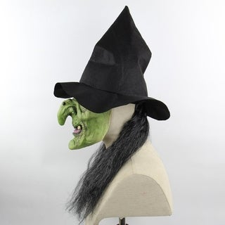 Gray Hair Horror Witch Mask Christmas Haunted House Room Escape Dress Up