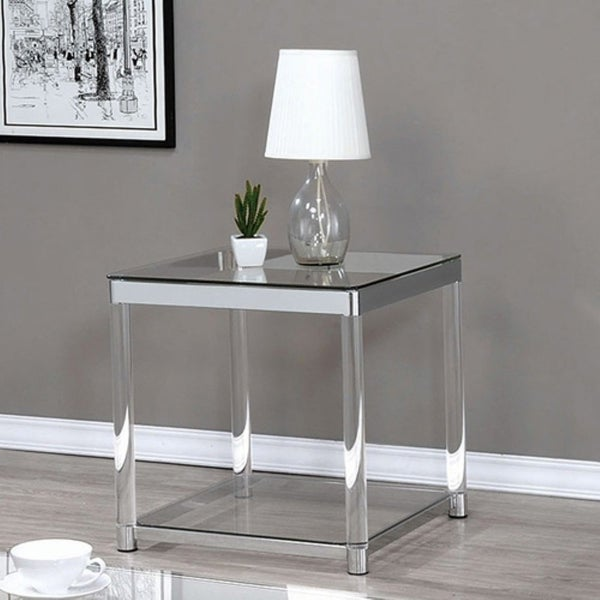 Shop Contemporary Coffee Table With Tempered Glass Top