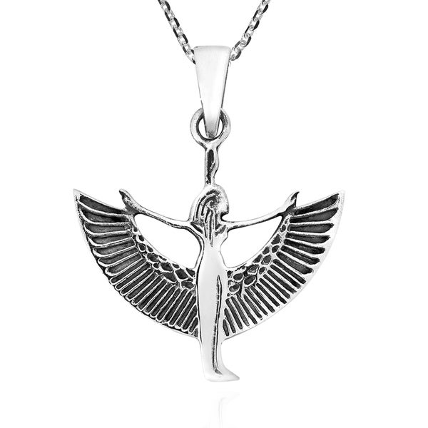 Shop Handmade Egyptian Goddess Isis Sterling Silver Pendant Necklace