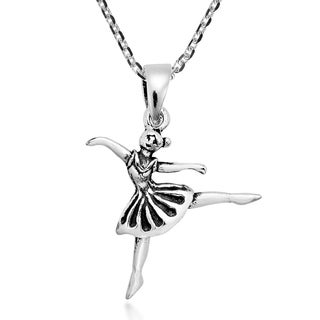 Handmade Dancing Ballerina Sterling Silver Pendant Necklace Thailand