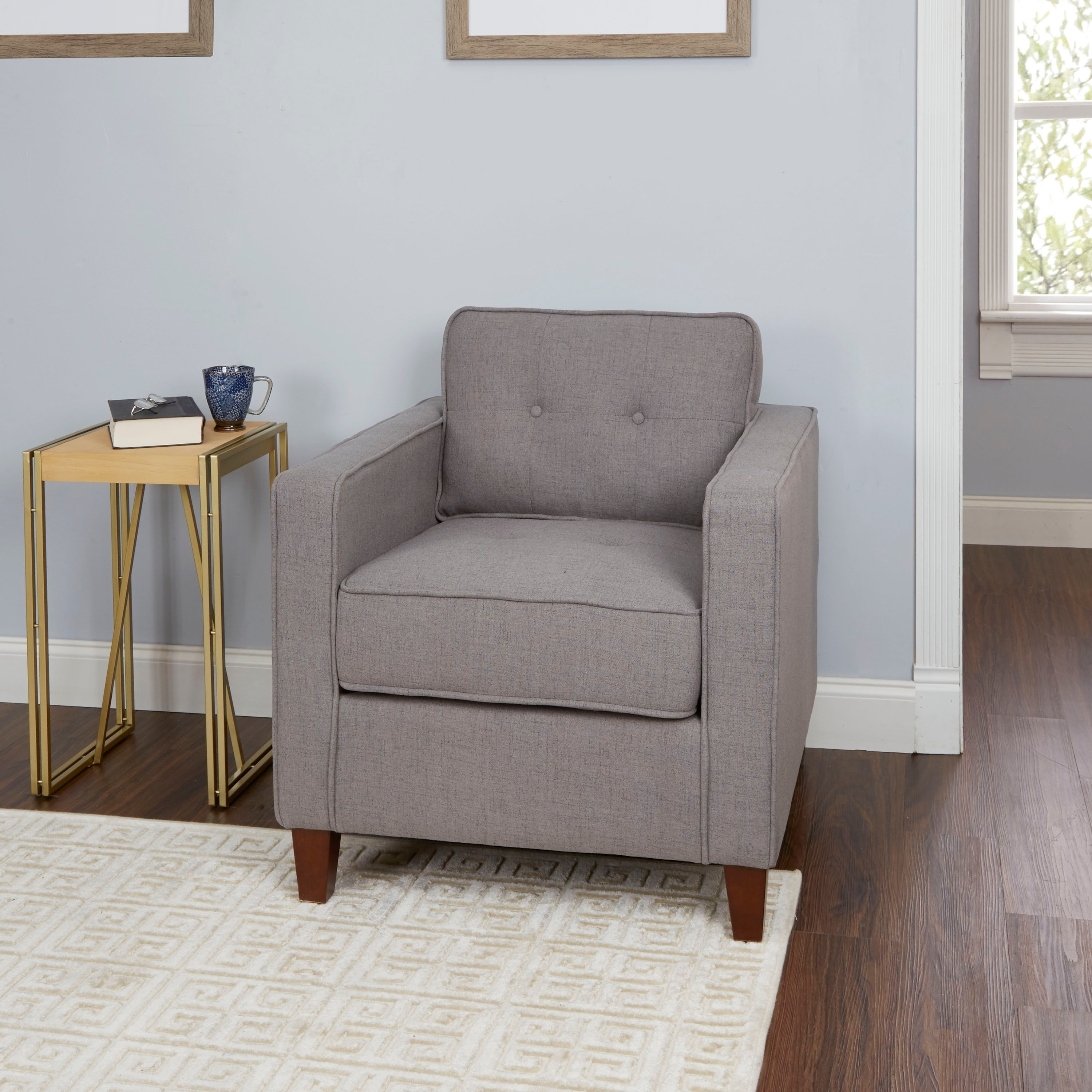 Schuler Square Arm Tufted Upholstered Club Chair