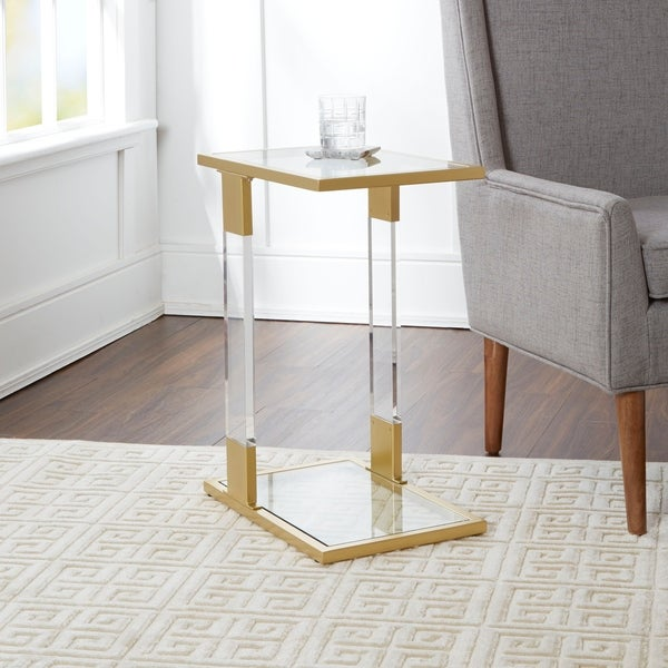 Shop Farrah Acrylic and Goldtone Steel C-Table - On Sale - Free Shipping Today - Overstock