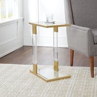 Farrah Acrylic and Goldtone Steel C-Table