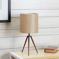 Arthur Wooden Compass Leg Tripod Table Lamp