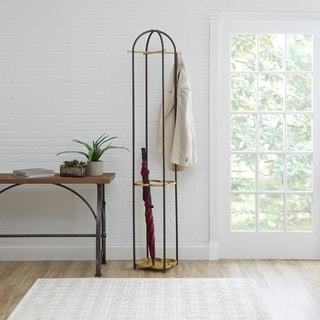 Phoebe Metal Coat Rack with Quatrefoil Umbrella Stand