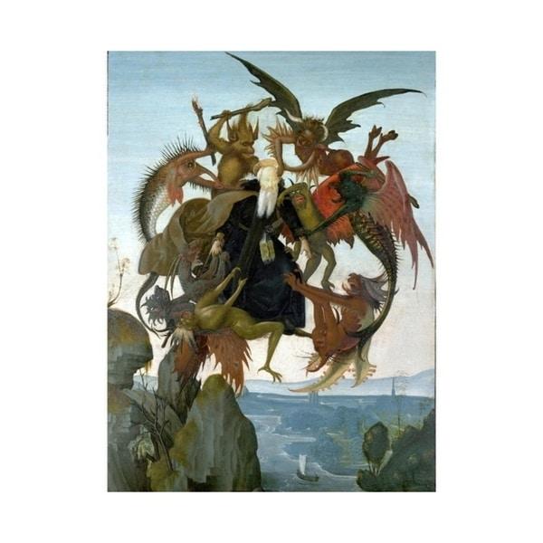 Easy Art Prints Michelangelo's 'The Torment of Saint Anthony' Premium Canvas Art
