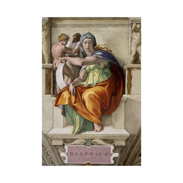 Easy Art Prints Michelangelo's 'Delphic Sibyl, Sistine Chapel Detail' Premium Canvas Art