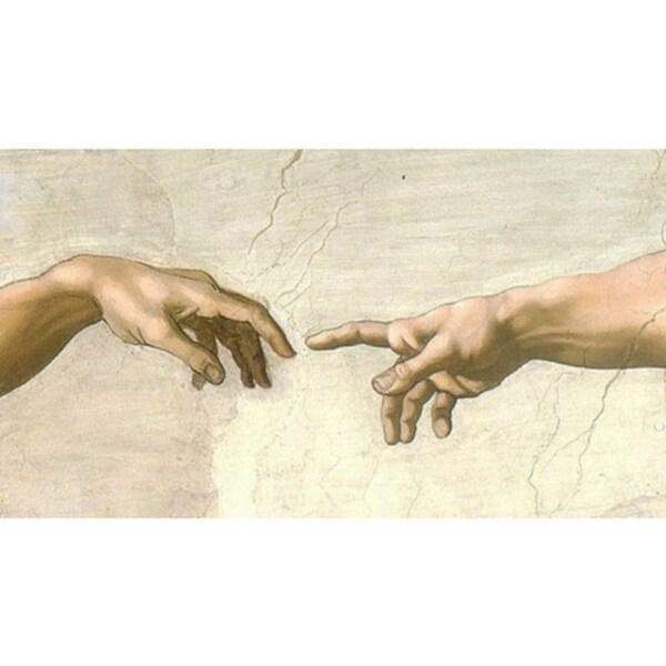 Easy Art Prints Michelangelo's 'Creation Detail, Sistine Chapel' Premium Canvas Art