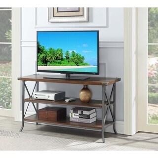 Convenience Concepts Brookline Brown/Grey Metal TV Stand