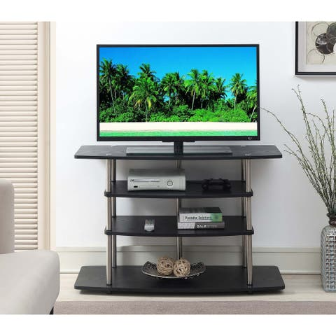Convenience Concepts Designs2Go Black No Tools Wide Highboy TV Stand