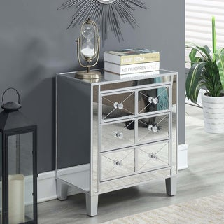 Link to Silver Orchid Bertram 3 Drawer Mirrored End Table Similar Items in Bedroom Furniture