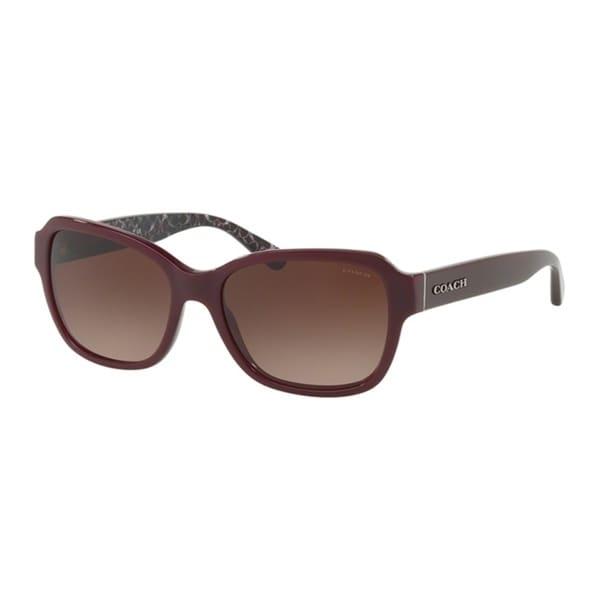355e7e1b8598 ... real best price coach rectangle hc8232 women oxblood frame dark brown  gradient lens sunglasses d0967 ef310