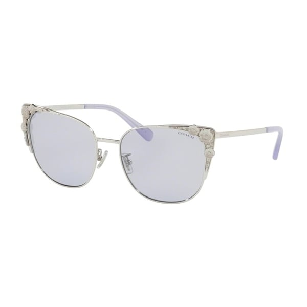f093ace5ac Shop Coach Cateye HC7085 Women SILVER Frame LIGHT PURPLE SOLID Lens  Sunglasses - Free Shipping Today - Overstock - 24256648