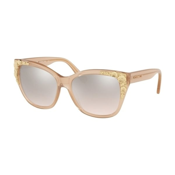 775802fdf2 Shop Coach Square HC8244 Women MILKY PINK CHAMPAGNE Frame SILVER PINK  GRADIENT FLASH Lens Sunglasses - Free Shipping Today - Overstock - 24256703