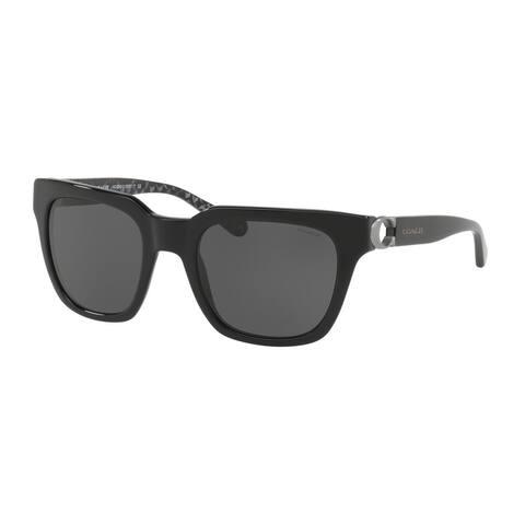 2943c1be006a Coach Square HC8240 Women BLACK Frame DARK GREY SOLID Lens Sunglasses