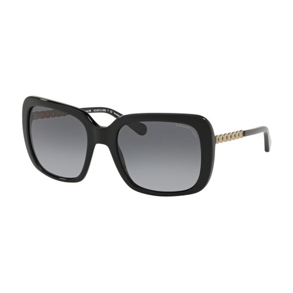 8a4e4546b1 Shop Coach Square HC8237F Women BLACK Frame GREY GRADIENT POLAR Lens  Sunglasses - Free Shipping Today - Overstock - 24256758
