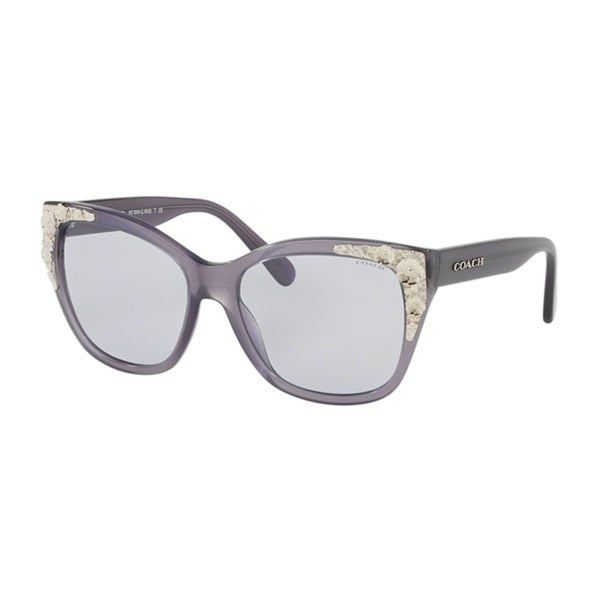 25faa12ab4271 Shop Coach Square HC8244F Women MILKY PURPLE Frame LIGHT PURPLE SOLID Lens  Sunglasses - Free Shipping Today - Overstock - 24256772
