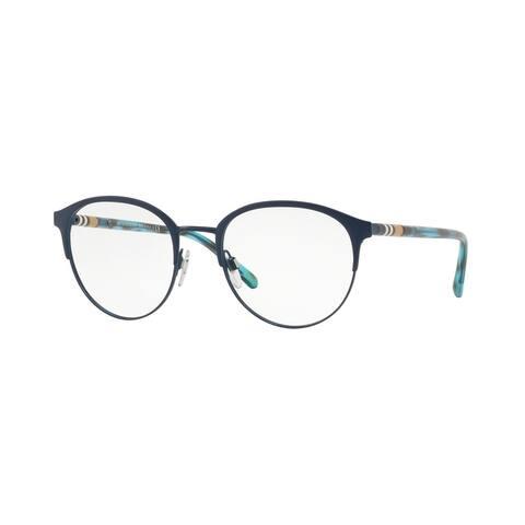 Burberry Phantos BE1318 Mens MATTE BLUE Frame Demo Lens Eyeglasses