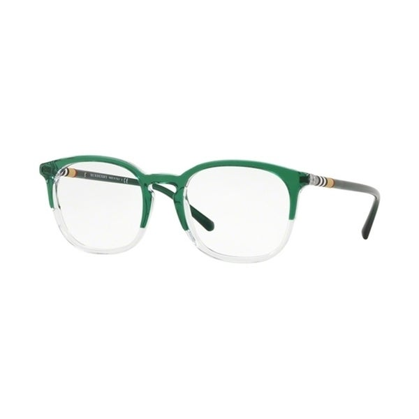 d210ceae46c Burberry Square BE2272 Mens TOP GREEN ON CRYSTAL Frame Demo Lens Eyeglasses