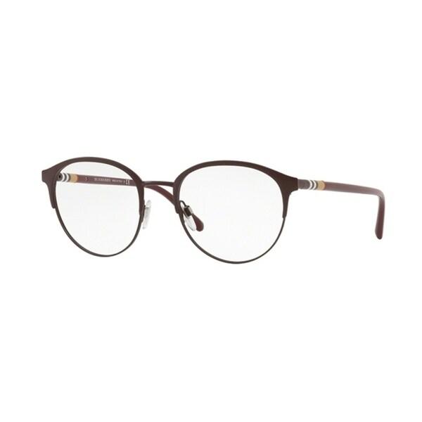 6ae9b8f43f37 Shop Burberry Phantos BE1318 Mens MATTE BORDEAUX Frame Demo Lens Eyeglasses  - Free Shipping Today - Overstock.com - 24256815