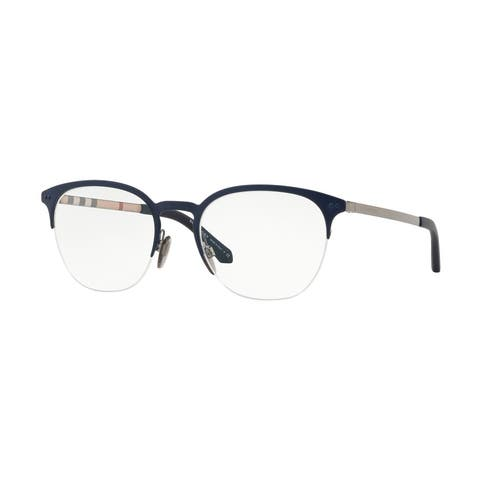 Burberry Square BE1327 Mens GUNMETAL/MATTE BLUE Frame Demo Lens Eyeglasses