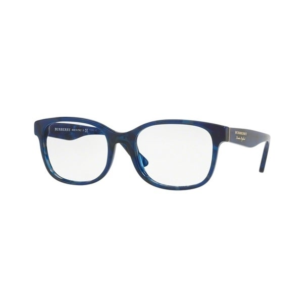 e2eec52548f Shop Burberry Square BE2263F WoMens BLUE HAVANA Frame Demo Lens Eyeglasses  - Free Shipping Today - Overstock - 24256895