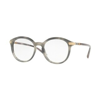 Burberry Phantos BE2264 WoMens STRIPED GREY Frame Demo Lens Eyeglasses