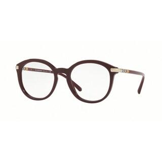 Burberry Phantos BE2264 WoMens BORDEAUX Frame Demo Lens Eyeglasses