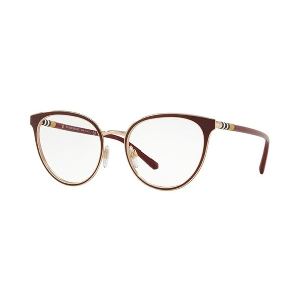 966d4a3a61d2 Shop Burberry Cat Eye BE1324 WoMens RED LIGHT GOLD Frame Demo Lens  Eyeglasses - Free Shipping Today - Overstock - 24256934