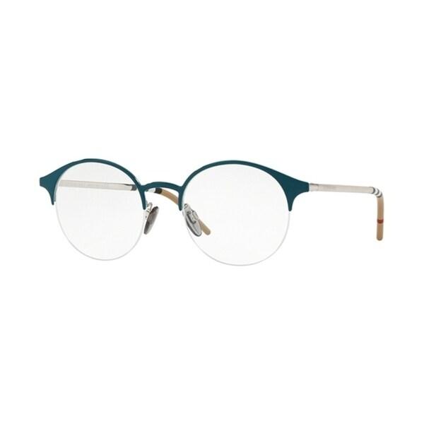 e78288ec45 Shop Burberry Round BE1328 WoMens BLUE SILVER Frame Demo Lens Eyeglasses -  Free Shipping Today - Overstock - 24256943