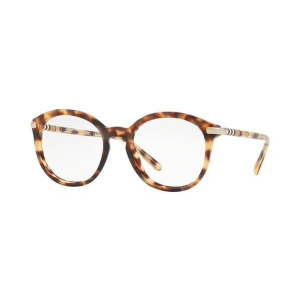 84c1ffbdb6 Burberry Phantos BE2264 WoMens LIGHT HAVANA Frame Demo Lens Eyeglasses