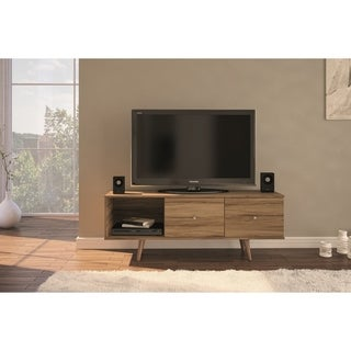 Boahaus Casual TV Stand for TV up to 50 inches, 2 drawers, One Shelf