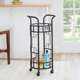 Jules Geometric Round Bar Cart