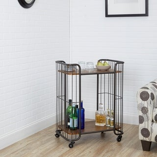 Bowlin Industrial 2 Tier Caged Serving Cart