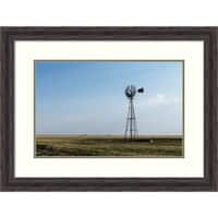 Framed Art Print 'Windmill in rural Gray County in the Texas panhandle' by Carol Highsmith: Outer Size 29 x 22-inch