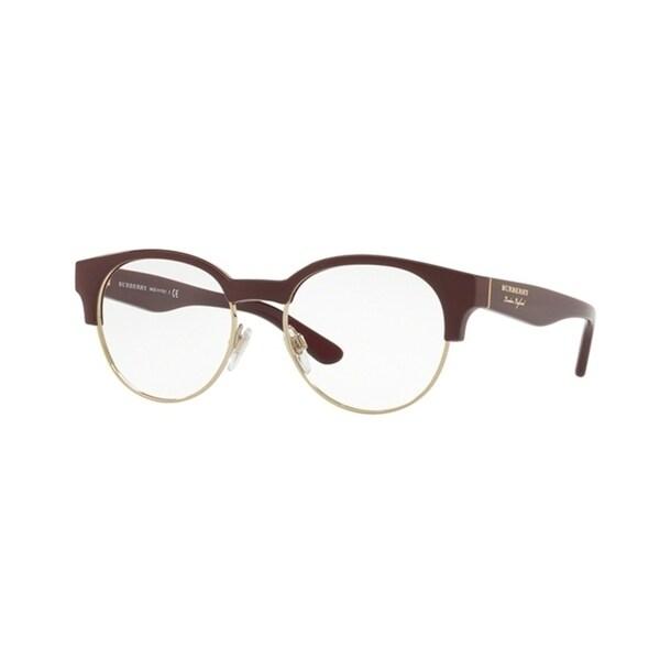 f66309762f00 Burberry Round BE2261 WoMens BORDEAUX LIGHT GOLD Frame Demo Lens Eyeglasses