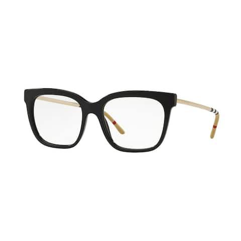 Burberry Square BE2271 WoMens BLACK Frame Demo Lens Eyeglasses