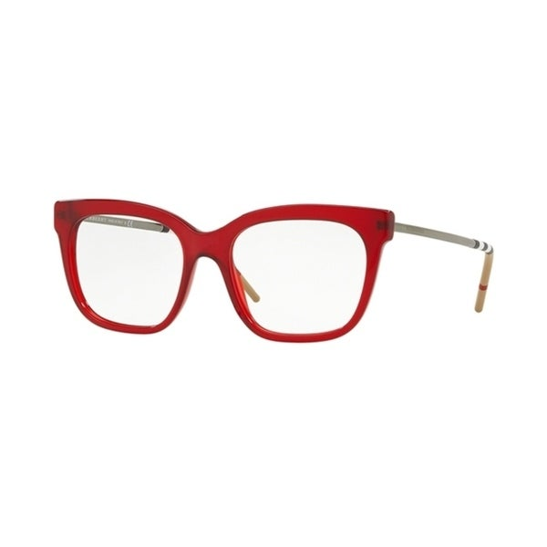 cf2d7dfb3be5 Shop Burberry Square BE2271 WoMens RED Frame Demo Lens Eyeglasses - Free  Shipping Today - Overstock - 24257135