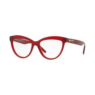 Burberry Cat Eye BE2276 WoMens RED Frame Demo Lens Eyeglasses