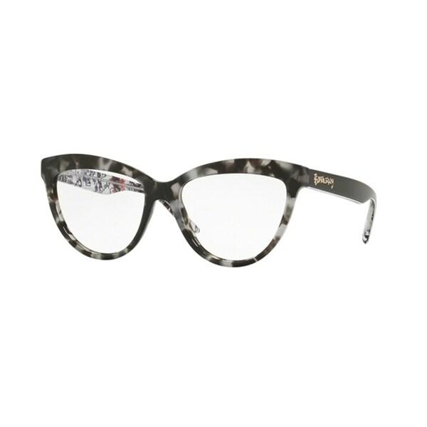 594c49547c Burberry Cat Eye BE2276 WoMens GREY HAVANA Frame Demo Lens Eyeglasses