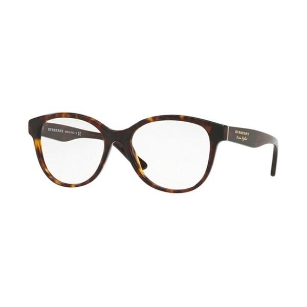 028023756a Burberry Round BE2278F WoMens DARK HAVANA Frame Demo Lens Eyeglasses