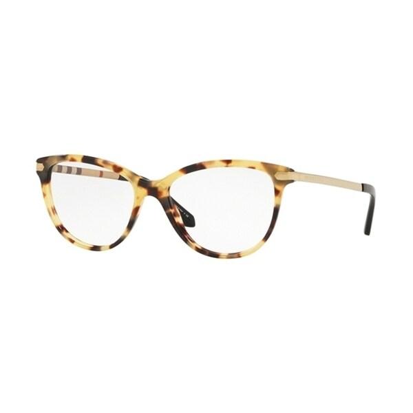 11befda67443 Shop Burberry Square BE2280 WoMens LIGHT HAVANA Frame Demo Lens Eyeglasses  - Free Shipping Today - Overstock - 24257182