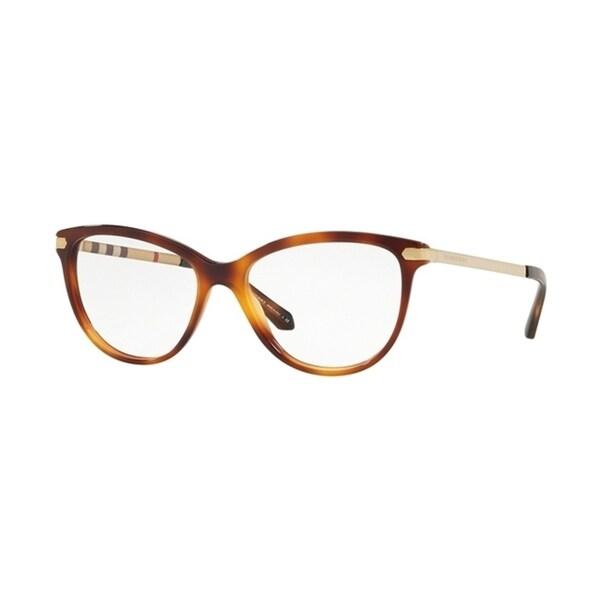 fa0609ceb8 Burberry Square BE2280 WoMens LIGHT HAVANA Frame Demo Lens Eyeglasses