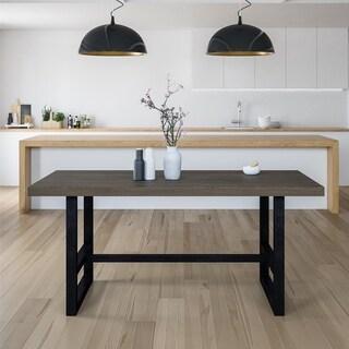 Avenue Greene Holt Rustic Grey Metal Base Dining Table - Rustic Grey