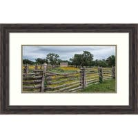Framed Art Print 'Vivid field of wildflowers in Johnson City, TX' by Carol Highsmith: Outer Size 29 x 19-inch